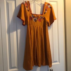NWT! Bohhemian Madewell dress w/floral embroidery